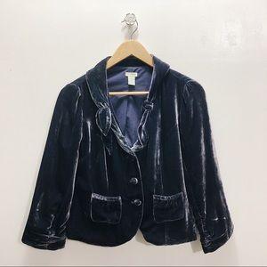 Anthro Odille Velvet Sheen Jacket
